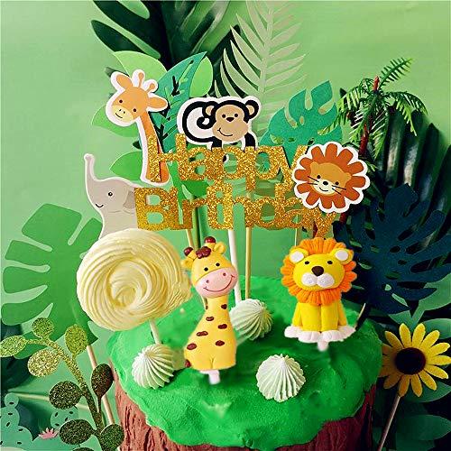 JeVenis 10er Jungl Geburtstag Dschungel Kuchen Dschungel Dekoration Dschungel Geburtstag Dschungel Party