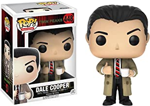 Funko Dale Cooper: Twin Peaks x POP! TV Vinyl Figure & 1 POP! Compatible PET Plastic Graphical Protector Bundle [#448 / 12694 - B]