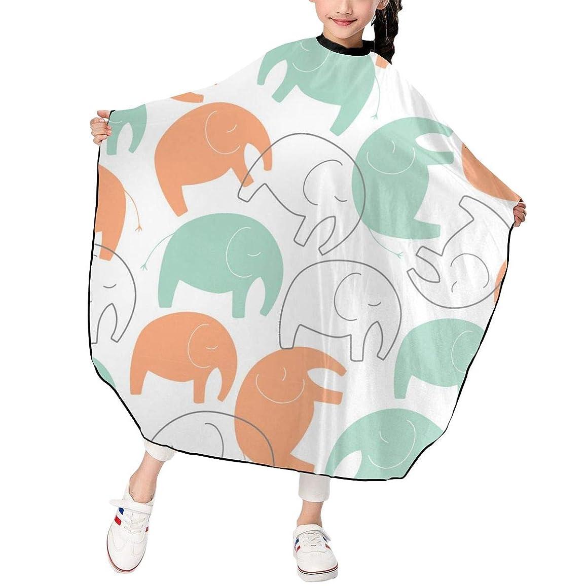 つかいます清める放射能MIKU-LF 散髪マント 散髪ケープ ファミリー理髪 折りたたみ式 ヘアカットケープ ヘアダイケープ 自宅 サロン 防水 散髪マント 幼児用 ヘアカット 子供用ヘアカットケープ 散髪ケープ ゾウ 象