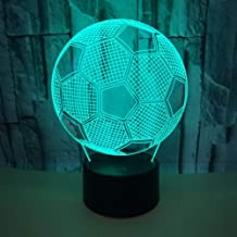 Indoor Football LED Colorful Gradient 3D Stereo Table Lamp Touch Remote USB Night Light..