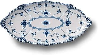 Royal Copenhagen Blue Fluted Half Lace Oval Platter 9.75
