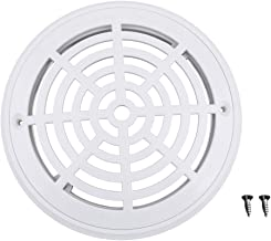 Homyl White Main Drain Suction Cover Plate For In-Ground Swimming Pools