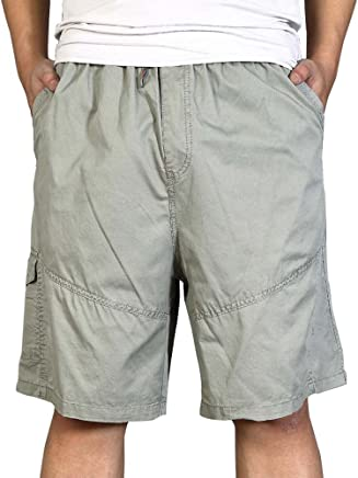 dd663a1242dcb AUSZOSLT Men s Casual Outdoor Breathable Lightweight Elastic Waist Cargo  Shorts