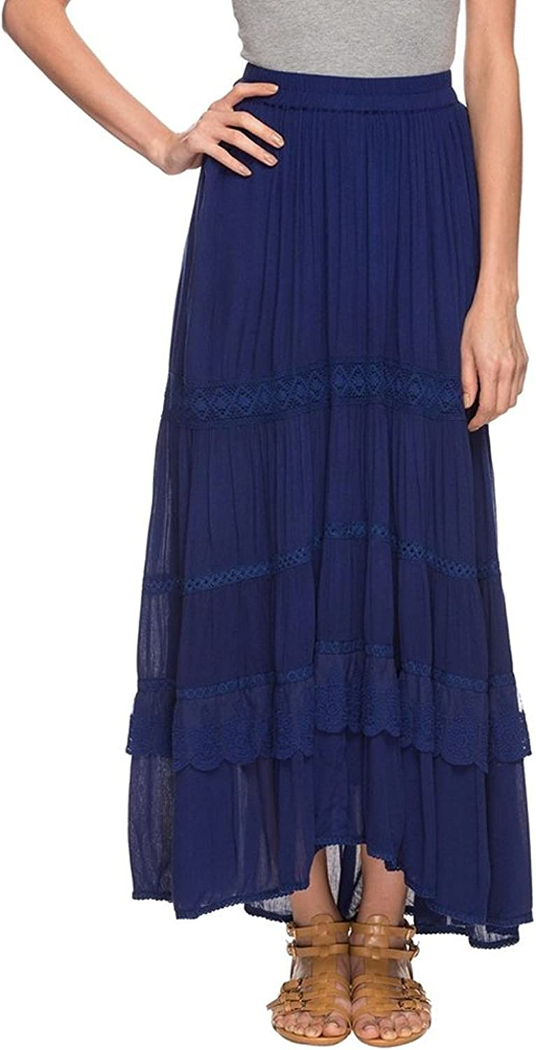 Indian Handicrfats Export Haute Curry by Shoppers Stop Womens Slub Layered Skirt