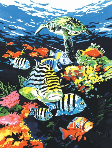 Royal & Langnickel PCS12 Séries Peinture d'après les chiffres Toile d'artiste Profondeur de l'océan Petit