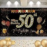 50 Años Pancarta Feliz Cumpleaños, Banner de Fondo cumpleaños, Cartel para fiestas de cumpleaños, Banner de Fondo cumpleaños, Banner de Fondo para Fiesta de cumpleaños, para Decoración de Fiesta
