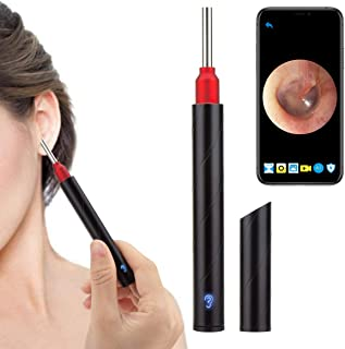 Urbesty Earwax Removal Tool,Wireless Otoscope Ear Wax Removal Kit 1080P HD WiFi Ear Endoscope with LED Lights,3.5mm Visual...