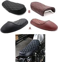 Motorcycle Vintage Diamond Flat Brat Cafe Racer Seat For Honda CB750 CL350 CG125 Universal Bike (Model A (Black))