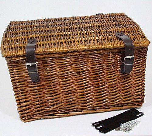 Spielwaren Klee Fahrradkorb Weidenkorb Hundekorb Holland Fahrrad Korb Bäckerkorb Rattan Braun