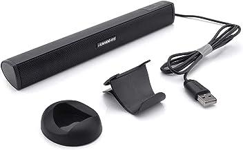 USB Powered Computer Stereo Speaker, Portable Mini Sound Bar for Windows PCs, Desktop..