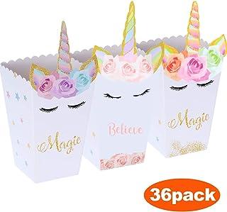 Liuer Cajas de Palomitas,36PCS Caja de Carton de Popcorn Envase de ...