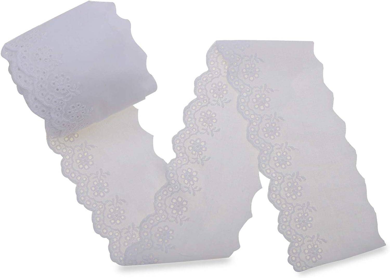 IDONGCAI White Lace Sewing Trim Washington Mall Ranking TOP15 Eyelet Embroi Ribbon Floral