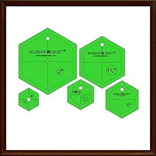 Silesian Quilt Plantilla para Patchwork - un Conjunto de hexágonos de 5 tamaños