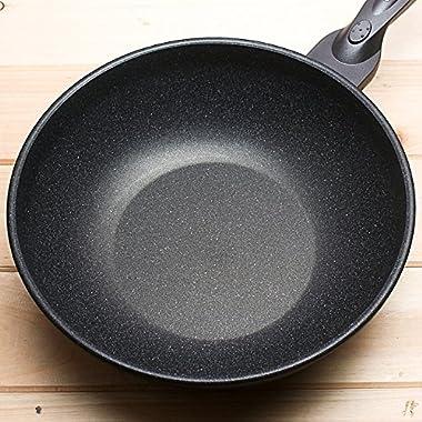 Nonstick Frying Pan Wok Coating Cookware Stir-Frying Shallow Frying Deep Braising 30cm, 12inch TPKT38779