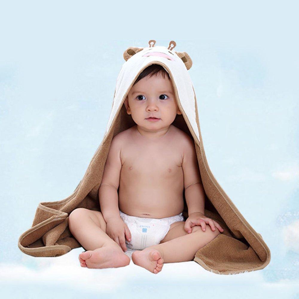 JYCRA Toalla de baño para bebé, algodón Suave con diseño de ...