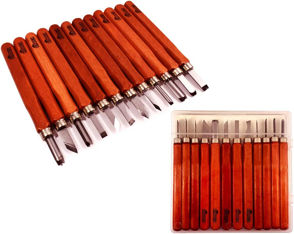Premium Wood Carving Tools Kit - Durable High Carbon Stainless S
