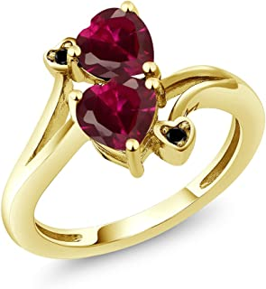 Best gold ring with red heart Reviews