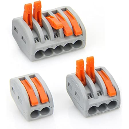 Lever Nut,Wire Connector Assortment Pack Compact Wire Connectors,90pack (30) PCT-212 (30) PCT-213 (30) PCT-215