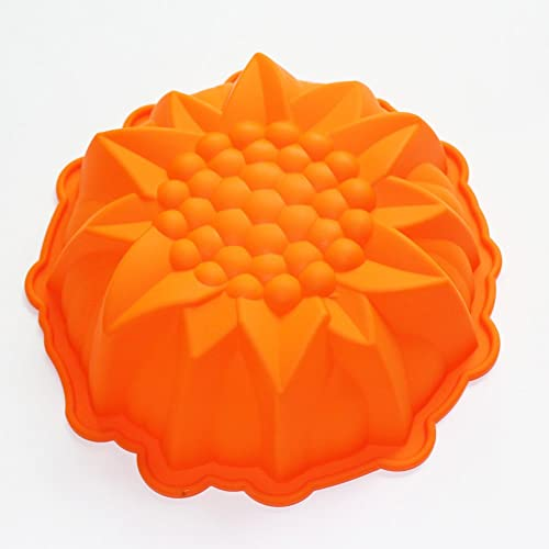 X-Haibei 9inch Round Flower Cake Baking Silicone Mold Cake Decorating Dessert Pan