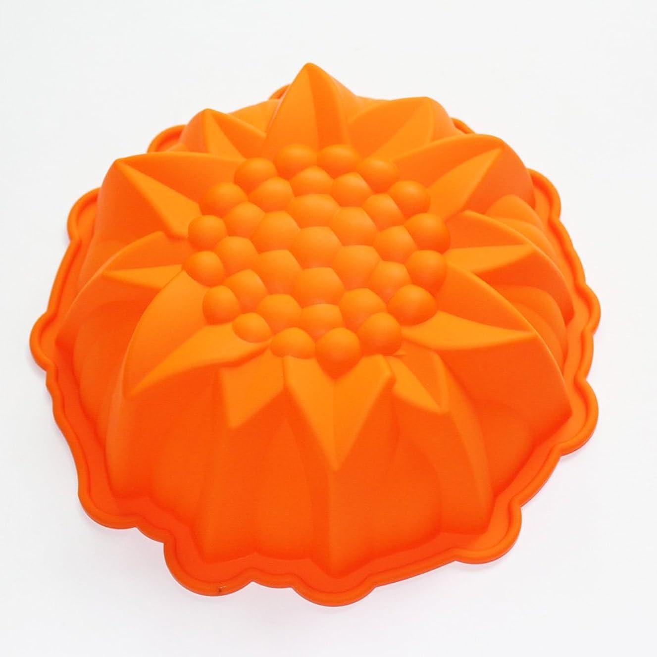 X-Haibei 9inch Round Flower Cake Baking Silicone Mold Cake Decorating Dessert Pan