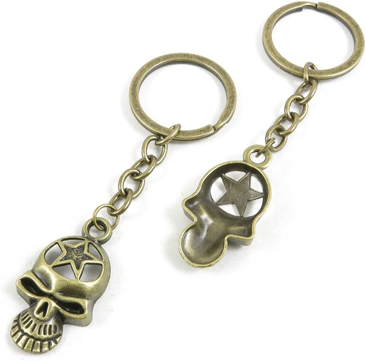 160 Pieces Fashion Jewelry Keyring Keychain Door Car Key Tag Ring Chain Supplier Supply Wholesale Bulk Lots M6GV1 Star Skull