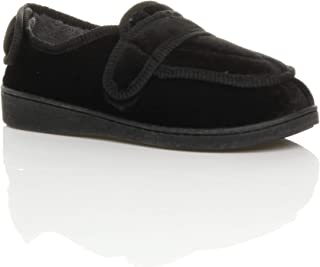 Ajvani Women's Diabetic Orthopaedic Memory Foam Wide Fit Slippers House Shoes Size