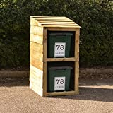 Recycling bin store - for 2 bins