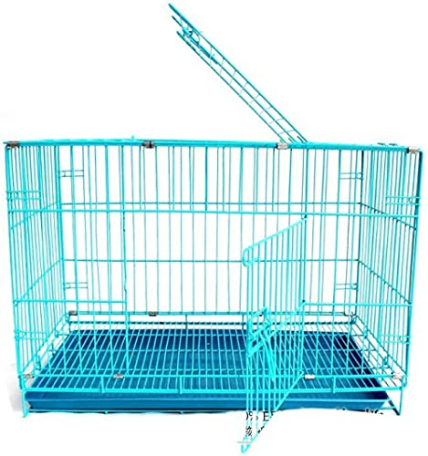 Royal Pet Easy To Move With Removable Tray Iron Cage For Dog & Rabbit 18 Inch Sky Blue