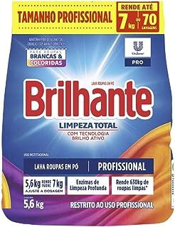 Lava-Roupas em Pó Roupas Brancas e Coloridas Brilhante Limpeza Total Pro Pacote 5, 6kg Tamanho Profissional, Brilhante