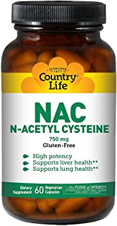 Country Life NAC N-Acetyl Cysteine - 750 mg - 60 Vegetarian Capsules