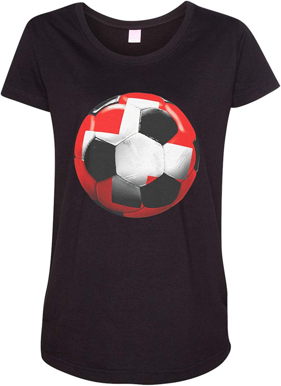 HARD EDGE DESIGN Women's Switzerland Soccer T-Shirt