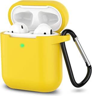 Airpods Case Silicone AirPods Accessories Cover Compatiable with Apple AirPods Wireless Charging Case (Yellow)