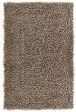 Lashuma Tapis de baignoire chenille, tapis de bain, tapis de salle de bain, tapis de douche, Coton, taupe, 50 x 80 cm
