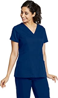 Grey's Anatomy 3-Pocket V-Neck Top for Women - Modern Fit Medical Scrub Top