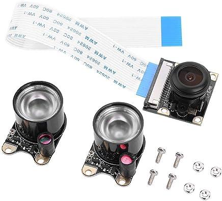 Modulo Fotocamera Raspberry Pi,Modulo Fotocamera HD 1080p 5MP Sensore Videocamera OV5647 Grandangolare Fisheye, Modulo Visione Notturna CCD 1/4 Pollici per Tutti i Modelli di Raspberry Pi - Trova i prezzi più bassi