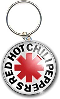 Red Hot Chili Peppers Keychain Asterisk Logo Official Metal Keyring Silver One Size