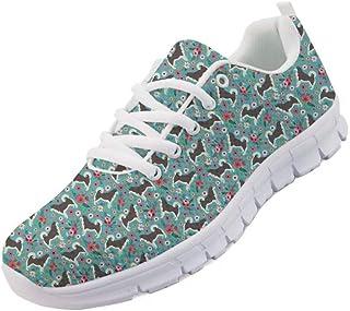 Chaussures de course à pied pour femme et fille avec lacets et imprimé animal