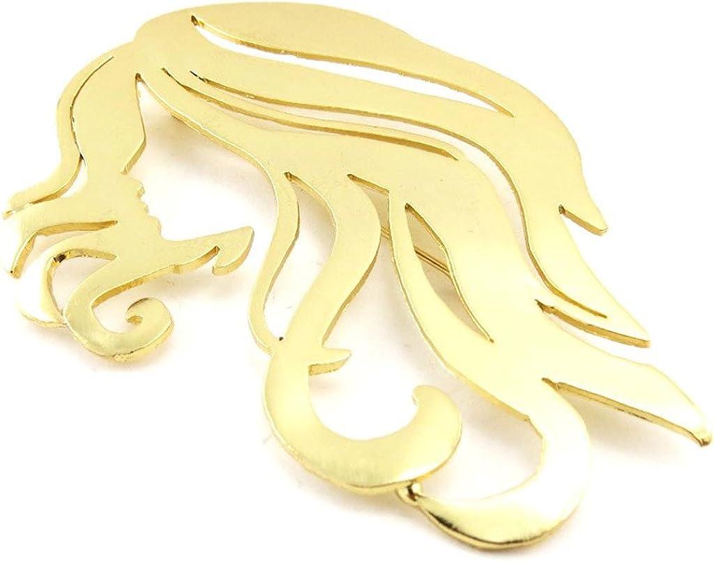 Pin creator 'Visage' gold.