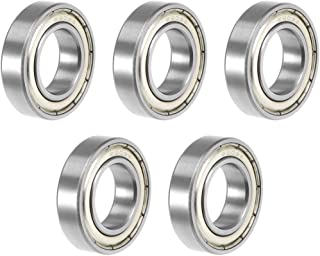 uxcell 6902ZZ Deep Groove Ball Bearing 15x28x7mm Double Shielded ABEC-3 Bearings 5-Pack