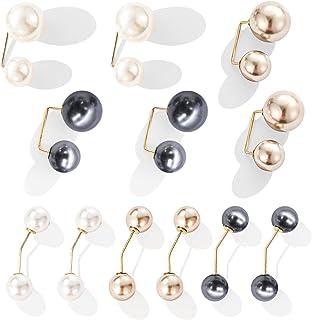 12 Pezzi Spilla con Perle Artificiali Donna Spille Perle Finte Spille da Balia Spille di Sicurezza Maglione con Looper di ...