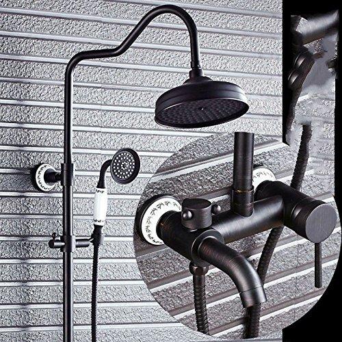 Lvsede Bad Wasserhahn Design Küchenarmatur Niederdruck Bronze Kupfer Vintage Duschbad Duschbrause I547