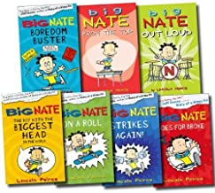 Big Nate Series Collection Lincoln Peirce 7 Books Set (Big Nate on a Roll, Big Nate Goes for Broke, The Boy with the Biggest Head in the World, Big Nate Strikes Again, Big Nate Boredom Buster, Big Nate from the Top, Big Nate Out Loud)