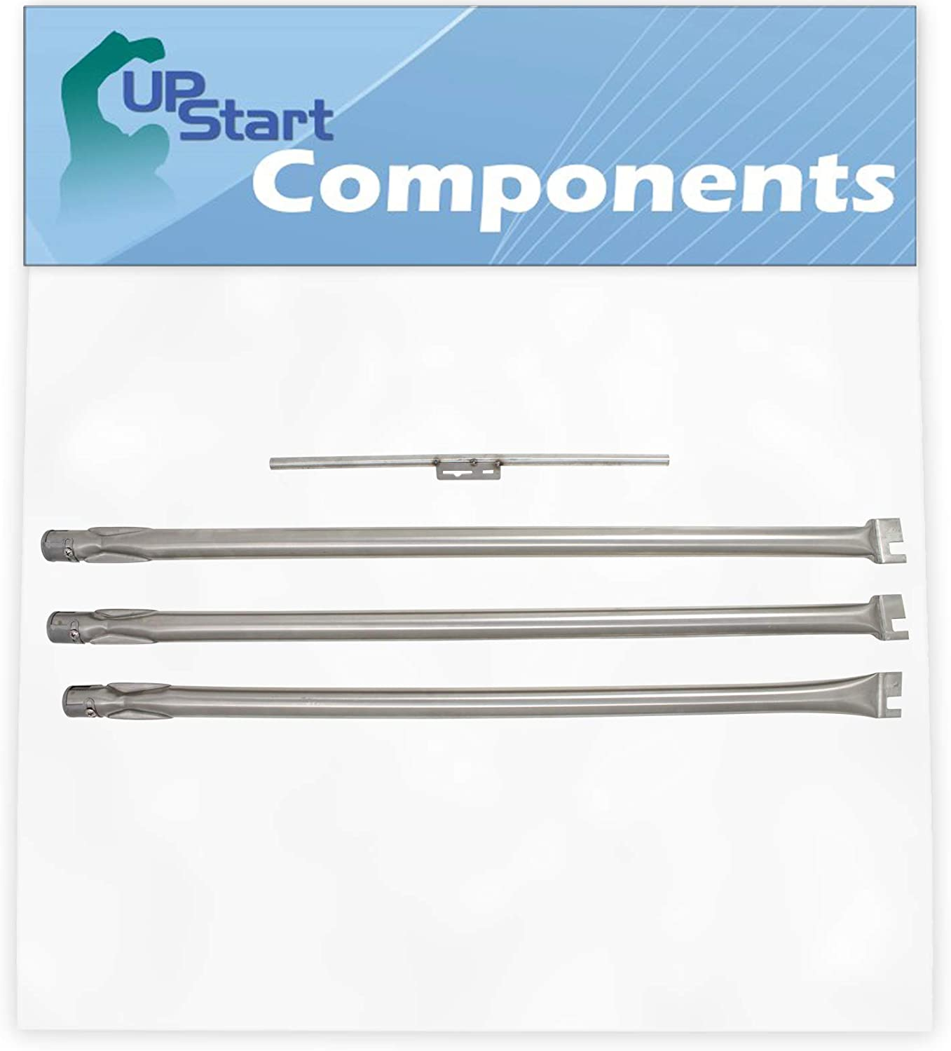 BBQ Grill Burner Excellence Tube Over item handling ☆ Set Replacement Silver Genesis for Weber B