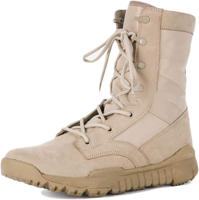 MERRYHE Stivali Militari da Uomo Stivali da Combattimento Tattici Desert Stivali da Uomo Leggeri Estivi Outdoor da Uomo