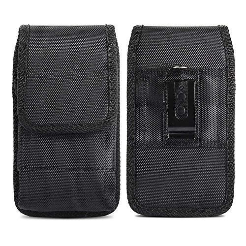 Gürteltasche für Blackview A80 Pro BV5900 Duoduoo J6 P30 Plus Oukitel WP5 2020 Handy, Transporttasche, Holster, Nylon, vertikal, Schutzhülle, Clip Metall