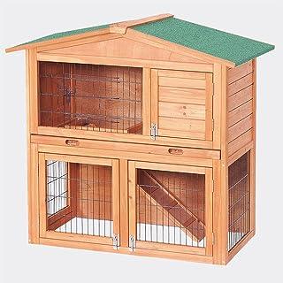 WilTec Conejera 2 Niveles caseta roedores Conejos Animales pequeños jardín