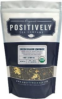 Positively Tea Company, Organic Green Dragon Lemonade, Green Tea, Loose Leaf, USDA Organic, 1 Pound Bag