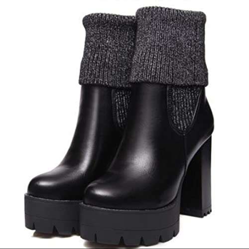 LINYI Chaussures à Talons Hauts En Cuir Pour Femme