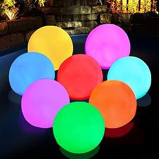 Floating Pool Light, RGB Color Changing Bathtub Led Ball Night Light IP68 Waterproof Hot Tub Ball Light for Kids Gift, Par...