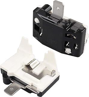 Futheda Lot de 2 protections de surcharges pour moteur de réfrigérateur 220 V 1/4 HP 180 W 1 broche Noir